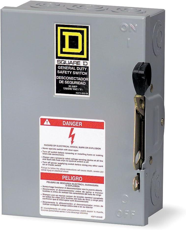 60 Amp 600VAC Single Throw Hazard Safety Switch 3P