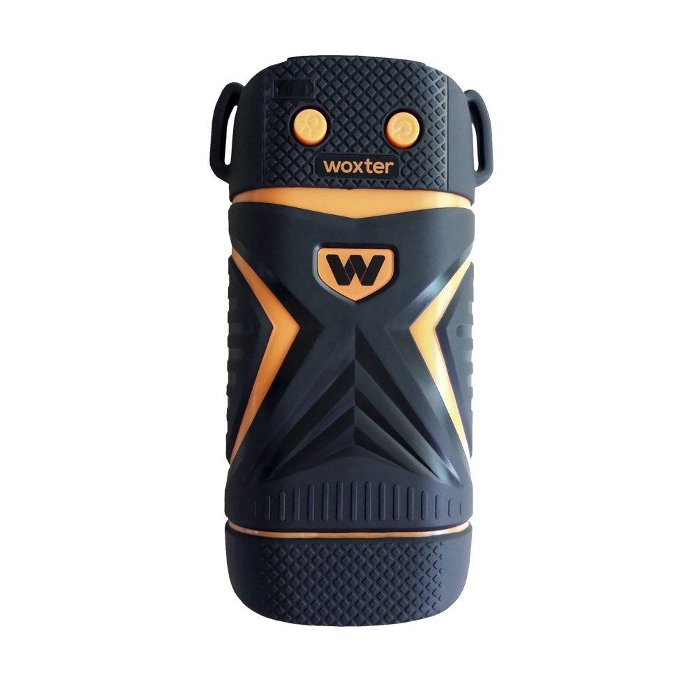 Woxter Power Bank Sport 4400 - Cargador portátil deportivo (calificación IP67) resistente al polvo, al agua ya los golpes bruscos, color naranja