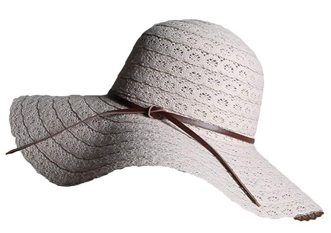 Gorros Sombrero para El Sol para Mujer Elegante Verano Modernas Casual Protector Solar Sombrero De Paja