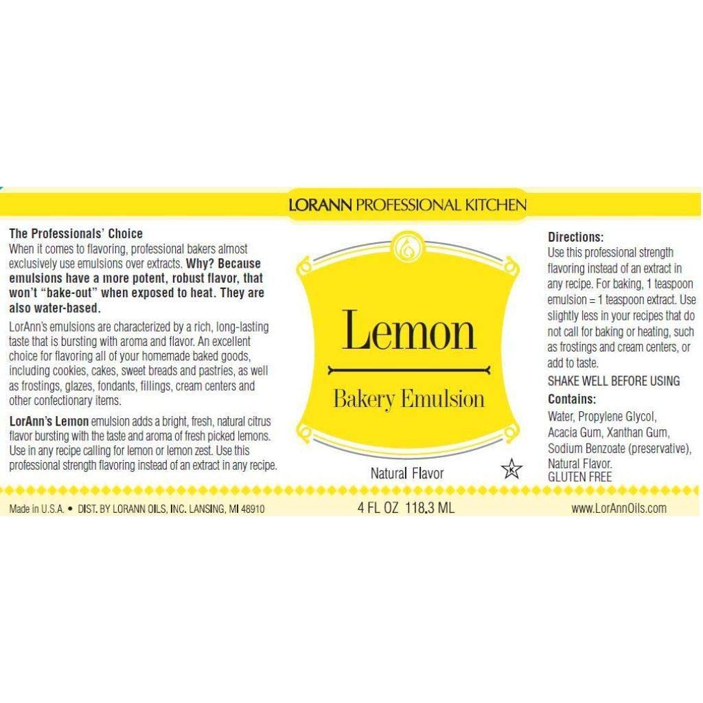 16 oz Lemon Bakery Emulsion- BULK by LorAnn (Image #2)