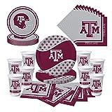 Texas A&M Aggies Party Bundle - Plates, Cups, Napkins - Serves 8