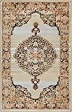 "Well Woven Mughal Red Medallion Modern 2×4 (2'3″ x 3'11"") Area Rug Beige Ivory Blue Vintage Floral Oriental Carpet Review"