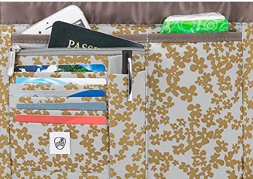 Travelon Crinkle 3 Compartment Flapover Shoulder Bag