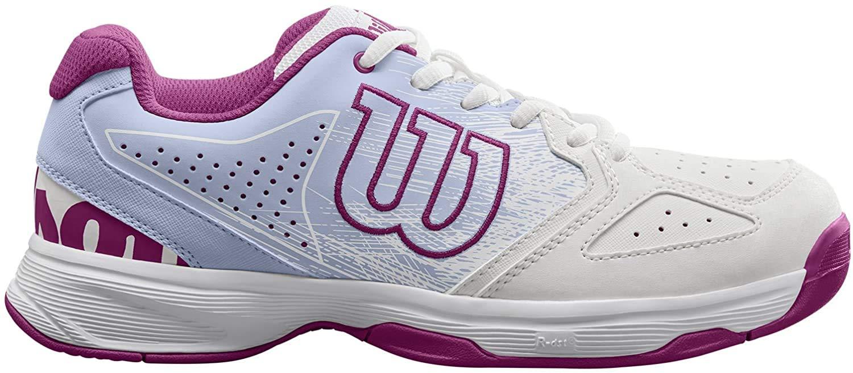 Wilson STROKE JR, Zapatillas de tenis niño, todos niveles y terrenos, , tejido/sintético, blanco/fucsia (White/Halogen Blue/Very Berry), talla: 28 1/2: Amazon.es: Zapatos y complementos