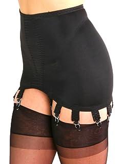 ccc1ed9a28bc Premier Lingerie Black Lycra 10 Strap Shapewear Girdle with Suspenders  (PLG10) [UK]