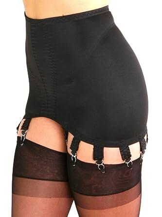 449ba69d3fe Premier Lingerie Black Lycra 10 Strap Shapewear Girdle with Suspenders  (PLG10)  UK   Amazon.co.uk  Clothing