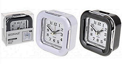 Despertador de agujas, cuarzo, alarma, luminoso, 8 x 8 cm ...