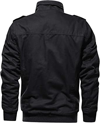 WV Mens Christmas Time In Here Again Stand Collar Zipper Jackets With Two Pockets Cool Coats Casual Outwear