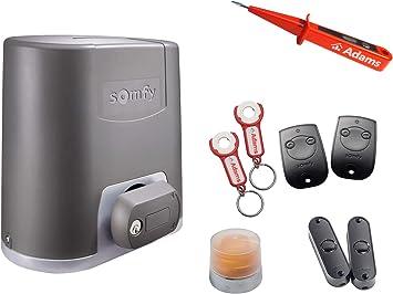 Somfy Elixo 500 - Sistema de automatización para puerta corredera (230 V, 2 manos) Keytis 2 RTS