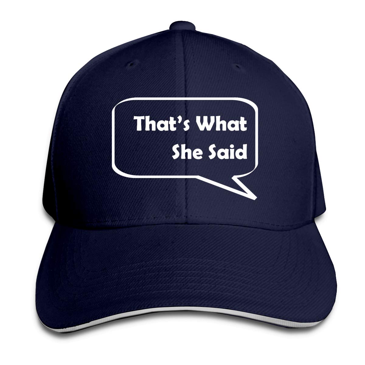 Thats What She Said Unisex Adult Baseball Caps Adjustable Sandwich Caps Jeans Caps Adjustable Denim Trucker Cap