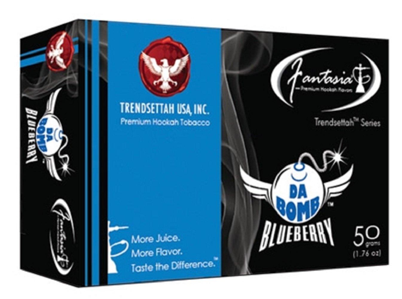 Fantasia Shisha Molasses Premium Flavors 50g For Hookah (Da Bomb Blueberry) by Standpoint