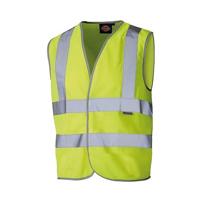 6a54c6ecff34 Dickies Childrens Kids Hi Vis Safety Vest Waistcoat  Amazon.co.uk ...