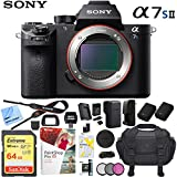 Sony a7S II 12.2MP Full-frame Mirrorless Interchangeable Lens Camera Body + 64GB Battery Grip Dual Battery Pro Video Bundle (Essential Photographer Bundle)