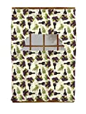 wine and grapes swag - Luxury Home Fashion 3 Piece Kitchen Curtain 100% Polyester, 1 Swag: 58