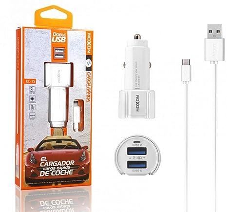 Cargador de Coche + Cable USB Tipo C 2,3A Carga Rápida Marca ...
