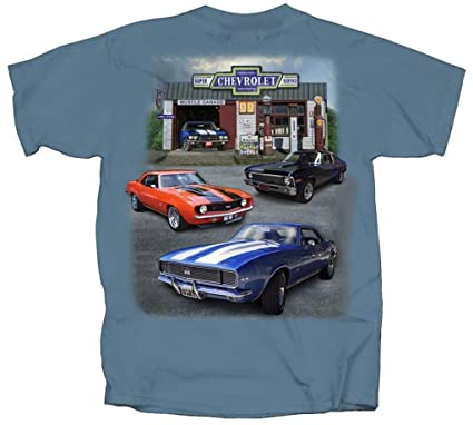 2265a41c Joe Blow Men's Chevy Super Service Muscle Garage Adult T-Shirt,XXX-Large.  Roll over image to zoom in