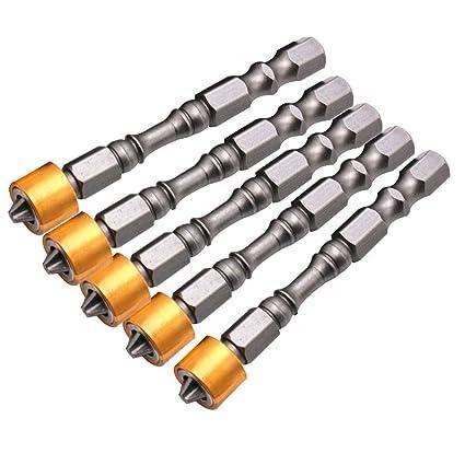 5 unidades antideslizante 65 mm eléctrica magnética destornillador ...