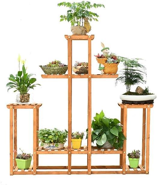 Dsrgwe Escalera para Flores, Estante de Estante de exhibición de macetas de Estante de la Flor