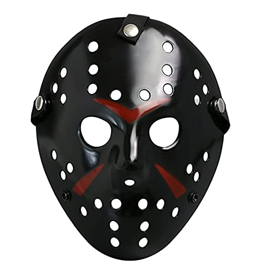 Chen Friday The 13th Horror Hockey Jason Vs. Freddy Mask Halloween Costume Prop (Black