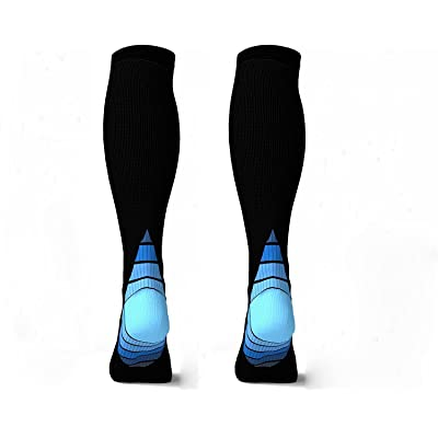 2 Pairs Eulay Men & Women Graduated Compression Socks Ideal for Running, Pregnancy, Flight & Travel, Nursing,Shin Splints,Boost Stamina, Circulation, & Recovery. (large/extra large)