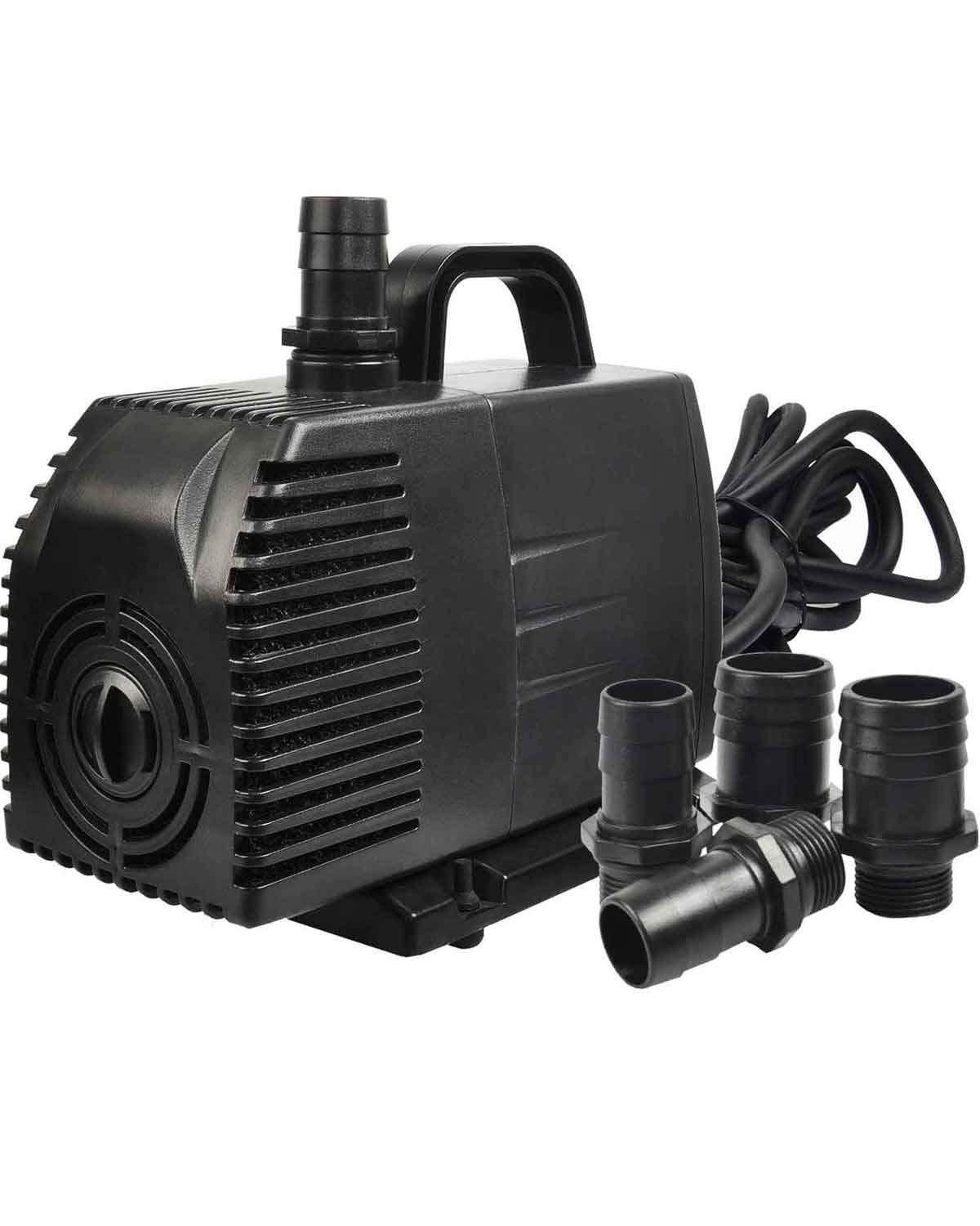 Simple Deluxe LGPUMP1056G 1056 GPH UL Listed Submersible Water Pump with 15' Cord for Fish Tank, Hydroponics, Aquaponics, Fountains, Ponds & Inline, 1-Pack, Black (Renewed) by Simple Deluxe