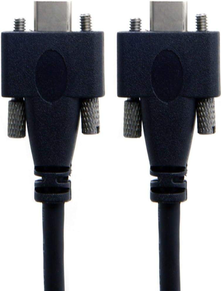 CY USB 3.1 Type-C Dual Screw Locking to Locking USB-C 10Gbps Data Cable 1.2m Panel Mount Type UC-046-1.2M