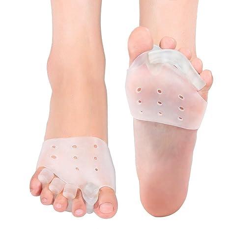 DOACT Separadores de Gel Dedos Del Pie (2 Pares) Separador de Dedo Del Pie para Hallux Valgus, Hammer Tratamiento de los Dedo Del Pie y Alivio de la Dolor ...