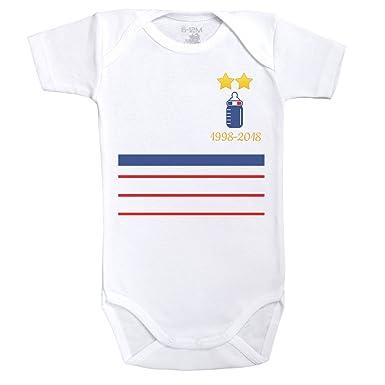 Baby Geek Maillot France 1998-2018 - Body Bébé Manches Courtes - Coton -  Blanc 89d80d9cb3b