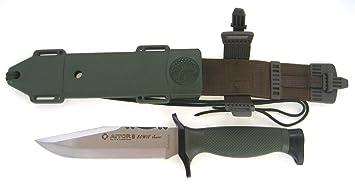 AITOR 16046 Cuchillo de Caza, Verde, L