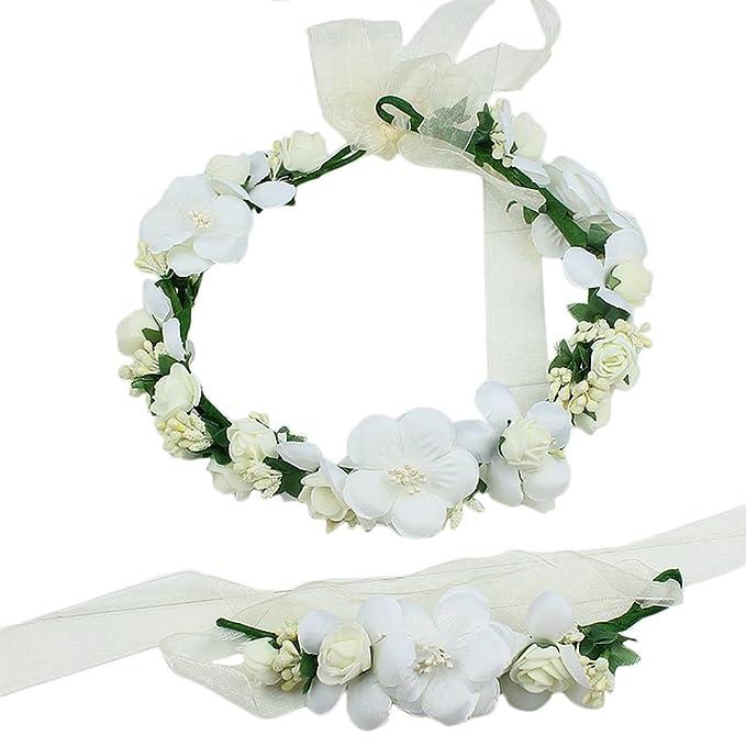 Kentop Blumenschmuck Blumengirlande Haare Fur Hochzeit Festival