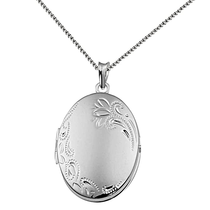 Sterling Silver and Diamond Family Locket with 18