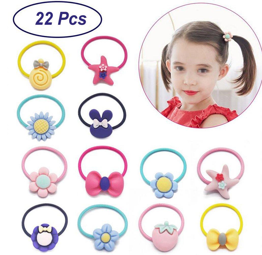 Cute Cartoon 4 Pcs Girls Kids Toddler Children Hair Ponies Elastic Bobbles Rope