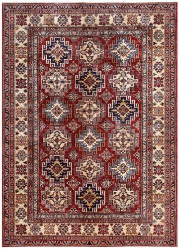 (Red 6' x 9' Kazak Rug Hand Knotted Oriental Rug )