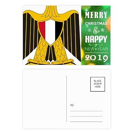 Amazon com : Egypt National Emblem Country 2019 New Year Postcard