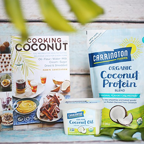 Carrington Farms Gluten Free, Unrefined, Cold Pressed, Virgin Organic Coconut Oil, 12 oz. (Ounce), Coconut Oil For Skin & Hair Care, Cooking, Baking, & Smoothies by Carrington Farms (Image #4)