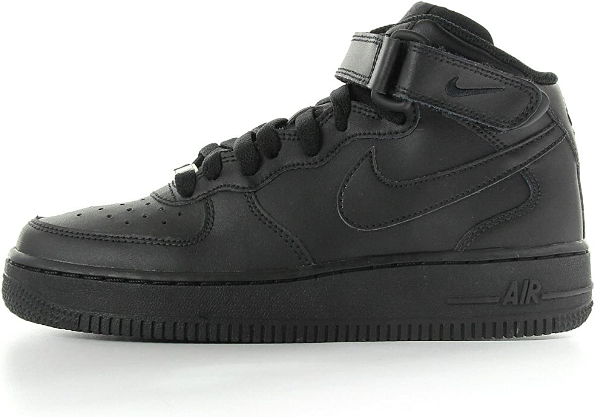 SCARPE NIKE AIR FORCE 1 MID GS 314195 004 NERO BLACK ALTA