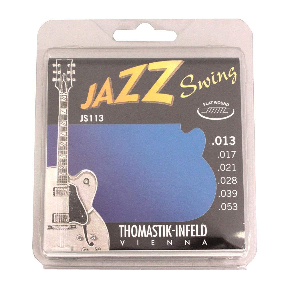 愛用 Thomastik-Infeld SWING JS113 JAZZ SWING Wound Flat Wound フラットワウンドギター弦×6セット JAZZ B071HGSYBR, モギリボンド ヤマザキ:90f6a276 --- egreensolutions.ca