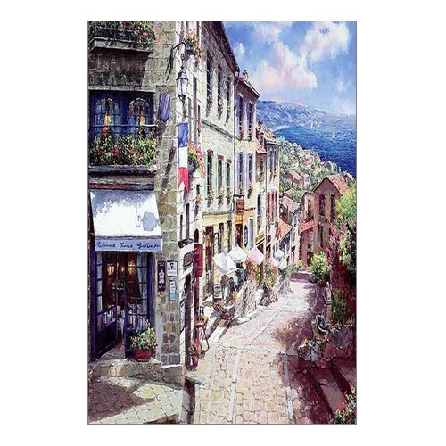 Beautiful Modern Art Watercolor Painting European Style Nice France The City Canvas Print Wall Art 12  X 18  Inch  Stretched And Framed Artwork Decor Wall Living Room Office  Art Abstract City Landscape Watercolor Picture Canvas Wall Art Print