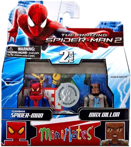 Marvel Minimates Exclusive Amazing Spider-Man 2 Movie Series 56 Mini Figure 2-Pack Flashback Spider-Man & Max Dillon by Diamond Select