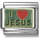 I Heart Jesus Italian charm