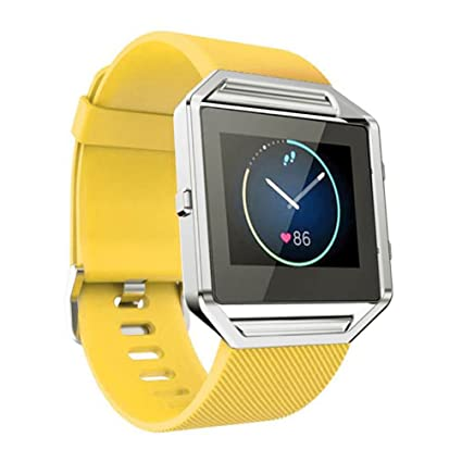 Correa de reemplazo deportiva en silicona para los relojes inteligentes de marca Fitbit Blaze, ajustable