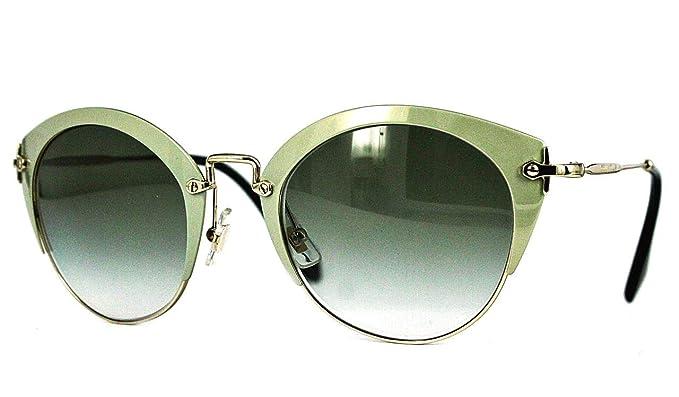 5f3630769015 Miu Miu MU53RS UR39T1 UV Protection Cat Eyes Sunglasses Gold Frame ...