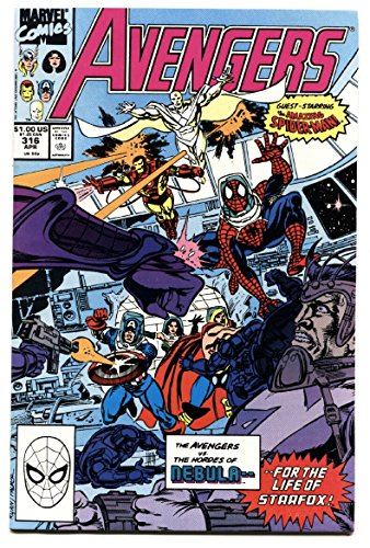Avengers #316-copper age comic book Spider-Man joins the Avengers-MCU
