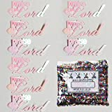 Confetti Word Praise the Lord White Iridescent - Half Pound Bag (8 oz) FREE SHIPPING --- (b2609)