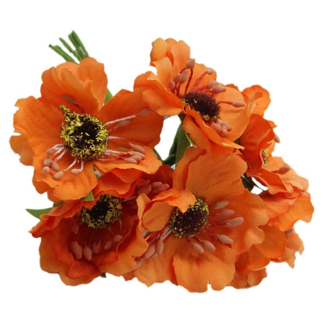 Amazon Artificial Poppies Camellia Sodialr Silk Poppies