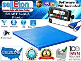 Selleton 10000Lb/1Lb 4'X4' (48'' X 48'') Floor Scale /Pallet Scale With Software & Usb!