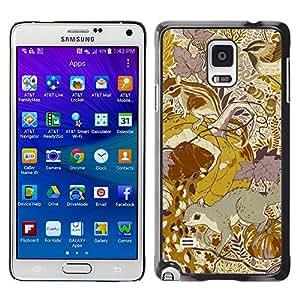 X-ray Impreso colorido protector duro espalda Funda piel de Shell para Samsung Galaxy Note 4 IV / SM-N910F / SM-N910K / SM-N910C / SM-N910W8 / SM-N910U / SM-N910G - Teal 3D Abstract Lines Purple