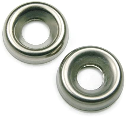 """Stainless Steel Countersunk Washer 1//4/"""" Finishing Cup Pack 20"""