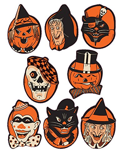 Beistle Character Stickers, 4-Inch by 6-Inch Sheet ()