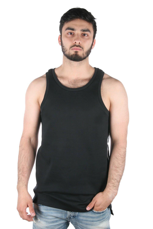 NikeメンズコントラストトリムTechフリースタンクトップ B01E7XN9F8 X-Large ブラック/ホワイト/ホワイト ブラック/ホワイト/ホワイト X-Large